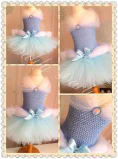 Cinderella Tutu Dress.   Beautiful & lovingly handmade.   Price varies on size, starting from £25.  Please message us for more info.   Find us on Facebook www.facebook.com/DiddyDarlings1 or our website www.diddydarlings.co.uk