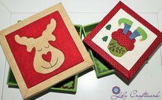 Caixa em MDF (madeira) trabalhada com tecido e patchwork embutido! Natal