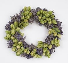 A wreath made of hops for the holidays