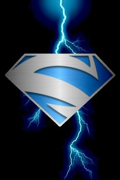 Superman Blue lightning background by_kalel7-d5eg4