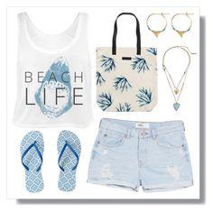 Beach Life by lgb321 on Polyvore featuring polyvore, fashion, style, MANGO, BeckSöndergaard, Kenneth Cole, Aurélie Bidermann and clothing