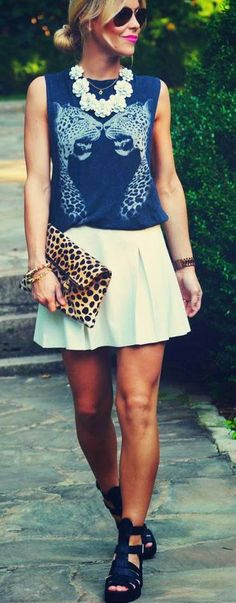 Zeliha's Blog: Best Street Fashion Inspiration & Looks! We love the use of cheetah print in this outfit!!