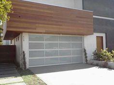 Modern garage doors.