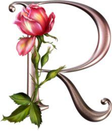 "Photo from album ""Rose_Alphabet"" on Yandex. R Letter Design, Alphabet Letters Design, Flower Alphabet, Fancy Letters, Alphabet Art, Alphabet And Numbers, Letter Art, Creative Lettering, Lettering Design"