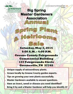 Plant Sale this weekend @ Fairgrounds!