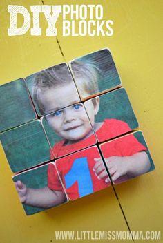 DIY Photo Puzzle Blocks on littlemissmomma.com