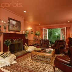 Dark Salmon Living Room Walls This Is My Accent Color In