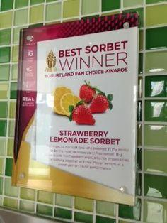 Strawberry Lemonade named Best Sorbet, Yogurtland Fan Choice Awards