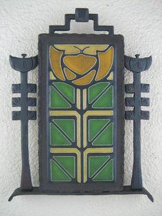 arts & crafts motawi little journeys tile by Bushereironstudio, $395.00