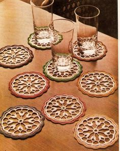 coasters...with pattern...