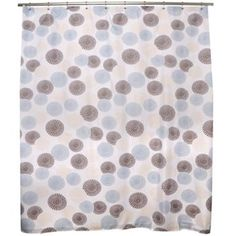 Famous Home Fashions Focus Fabric Shower Curtain