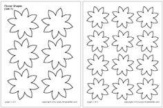 Flower Shapes Set 7