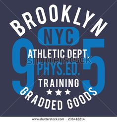Sport athletic NYC  typography, t-shirt graphics, vectors - stock vector