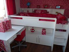 1000 images about emob at home on pinterest bureaus lit mezzanine and met - Lit mi hauteur princesse ...