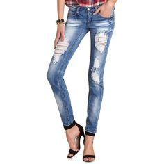 Machine Jeans Destroyed Skinny Jean
