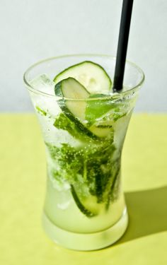 Mint Basil Cucumber and Lime Fizz from Seasons 52