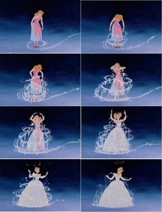 Cinderella's dress transformation was Walt Disney's favorite piece of animation