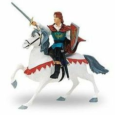 Prince and Horse Figure Set by Papo. $8.97. Encourage your kids to use their imagination. Ages 3+. Hand-painted and highly detailed. A dashing prince and beautiful horse can be part of  any play set. A world of medieval castles, brave knights, and fierce dragons comes to life. Your children will enjoy hours of imaginative play in wondrous worlds of conquest and battle, chivalry and horse play.  Encourage your kids to use their imagination to create their own magical k...
