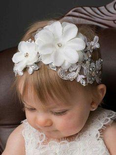 Baptism headband baptism headband Vintage headband sale del – My CMS Flower Girl Headbands, Vintage Headbands, Diy Headband, Baby Headbands, Headband Hairstyles, Diy Hairstyles, Christening Headband, Diy Hair Bows, Baby Bows