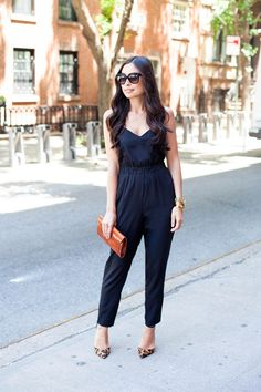 Jumpsuit - ASOS jumpsuit  // Schutz heels Angela Alvarez clutch // Celine sunglasses Max & Chloe necklace // Svelte Metals and Brandy Pham rings Michael Kors watch // Vita Fede, Brandy Pham, and Coordinates bracelets Friday, May 30, 2014