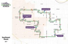 Sunday Parkways 2017 SE map Map, How To Plan, Sunday, Projects, Log Projects, Domingo, Blue Prints, Location Map, Maps
