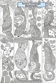 Animal Coloring Pages, Coloring Book Pages, Coloring Sheets, Free Printable Bookmarks, Bookmarks Kids, Handmade Bookmarks, Corner Bookmarks, House Colouring Pages, Freehand Machine Embroidery