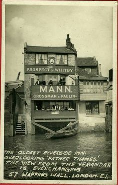 Prospect of Whitby pub Wapping London. Used to drink here with friends on Great atmosphere. Travelled by car from Stanmore Victorian London, Vintage London, Old London, East London, London City, London Street, London History, British History, Tudor History