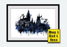 Hogwarts castle Harry Potter Hogwarts castle by ColorfulPrint