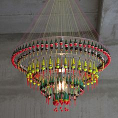 Float Light, $4,200, now featured on Fab. made of fishing floats, very cool