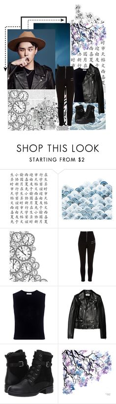 """.DEAN."" by jina-7 on Polyvore featuring Kaisercraft, River Island, A.L.C., Yves Saint Laurent, Blondo, dean, korean, HipHop and khiphop"