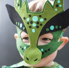 Felt Dragon Mask - No Sew - Tutorial. Gloucestershire Resource Centre http://www.grcltd.org/home-resource-centre/