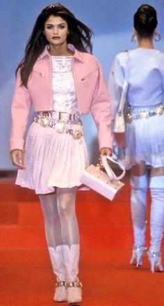 Helena Christensen - Atelier Versace,  Fall/Winter 1991