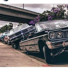 If you wanna be mean, you gotta lean. Chevrolet Impala, Impala Car, Lowrider Trucks, Lowrider Art, Chicano, Pimped Out Cars, Supernatural Impala, Arte Do Hip Hop, Cholo Style