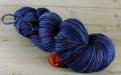 Blueberry Hand Dyed Yarn superwash merino by ramblingroseyarns