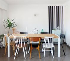 On trend: Mix 'n' match dining table chairs | Marlène's apartment, France
