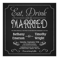 >>>best recommended          Eat Drink Be Married Chalkboard Invitations           Eat Drink Be Married Chalkboard Invitations This site is will advise you where to buyThis Deals          Eat Drink Be Married Chalkboard Invitations Here a great deal...Cleck Hot Deals >>> http://www.zazzle.com/eat_drink_be_married_chalkboard_invitations-161316315542976191?rf=238627982471231924&zbar=1&tc=terrest
