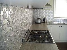 pressed metal splashbacks - kitchen Google Search