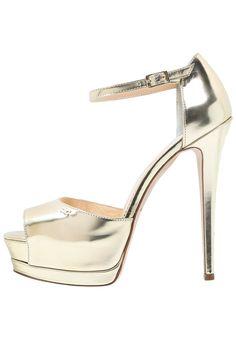 Sandaal met plateauzool gold elisabetta franchi