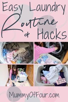 Want to know how to make your laundry routine easier? Today I am sharing my laundry routine for a large family. Speed Cleaning, Cleaning Hacks, Cleaning Schedules, Weekly Cleaning, Cleaning Checklist, Chore List, Laundry Hacks, Mom Advice, Organization Hacks
