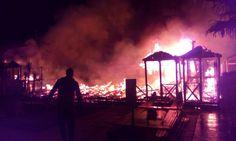 Incendio ai bagni Haiti e Punto Mare