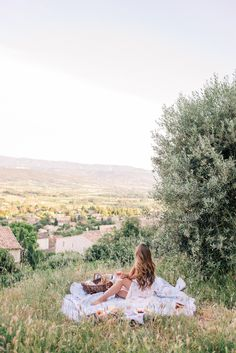 Gal Meets Glam Sunset Picnic in Saint Saturnin-Les-Apt -Reformation dress, Frye flats & Market backpack Jeanne En Provence, Provence France, Gal Meets Glam, Foto Pose, South Of France, France Travel, Travel Inspiration, Places To Go, In This Moment