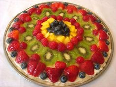 Fruit Pizza with a Shortbread Cookie Crust
