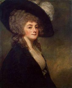 The Athenaeum - Portrait of Mrs Harriet Greer (George Romney - )