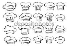 Resultat d'imatges de dibujo gorro cocinero