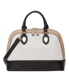 Another great find on #zulily! Black Spectator Dome Satchel by Elise Hope #zulilyfinds