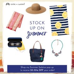 Shop more, save more! Stock up on warm-weather favorites during my Summer Solstice pop!