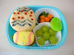 Easter Bento Lunch: Easter Eggs. #Bento www.facebook.com/BentoSchoolLunches
