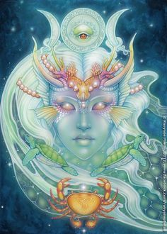 Featured Card of the Day - Queen of Water - Dreams of Gaia by Ravynne Phelan