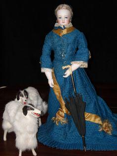 antique french fashion dolls | Amazing Antique Wood-bodied Jumeau French Fashion Doll