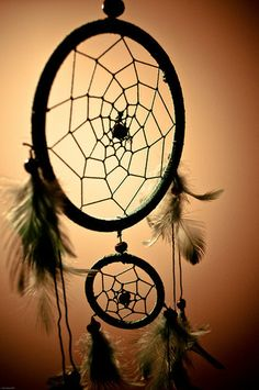 Dreamcatcher-is a handmade object based on a willow hoop, on which is woven a loose net or web. The dreamcatcher is then decorated with personal and sacred items such as feathers and beads.